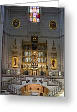 Almudena Cathedral Altar Greeting Card
