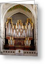 Almudena Cathedral Organ Greeting Card