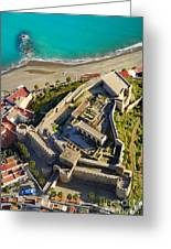 Almunecar Castle From The Air Greeting Card
