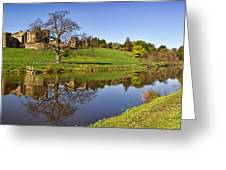 Alnwick Castle Panorama Greeting Card