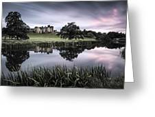 Alnwick Castle Sunset Greeting Card