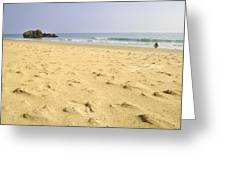 Alone At Bolonia Beach Greeting Card