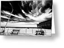 Alone In Asbury Park Greeting Card by John Rizzuto
