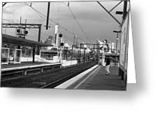 Alone In Railtracks Greeting Card