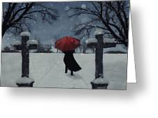 Alone In The Snow Greeting Card by Joana Kruse