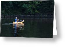 Alone On The Lake Greeting Card