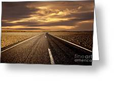 Alone Road Greeting Card