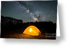 Alone Under The Stars Greeting Card