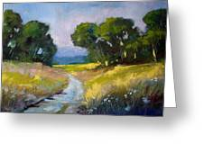 Along A Country Road Greeting Card