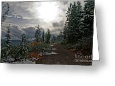 Along Ridge Road Greeting Card
