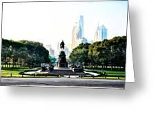 Along The Benjamin Franklin Parkway In Philadelphia Greeting Card