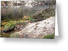 Along The Black Water River Greeting Card