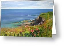 Along The Bluff Greeting Card