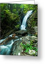 Waterfall - Along The Borderlands Greeting Card