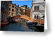 Along The Canals Of Venice Greeting Card