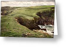 Along The Coast Path Greeting Card