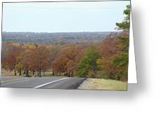 Along The Country Highway 1 Greeting Card