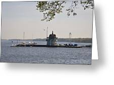 Along The Delaware River In New Jersey Greeting Card