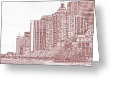 Along The Harbor New York Greeting Card by Thomas Fouch