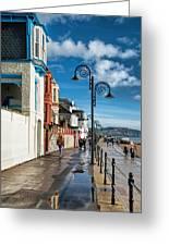 Along The Promenade - Lyme Regis Greeting Card