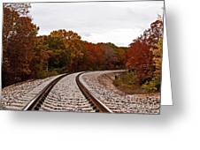 Along The Rails Greeting Card
