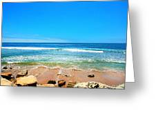 Along The Rincon California Surf Spot From The Book My Ocean Greeting Card