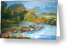 Along The Riverbank Greeting Card