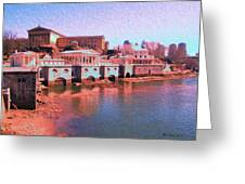 Along The Schuylkill At The Philadelphia Waterworks Greeting Card