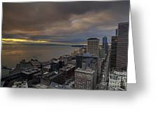 Along The Seattle Waterfront Greeting Card