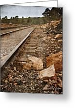 Along The Tracks Greeting Card