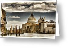 Along The Venice Canal Greeting Card