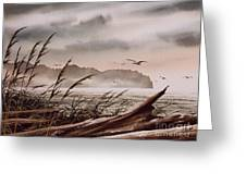 Along The Wild Shore Greeting Card