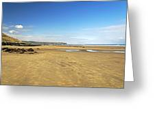 Along Whitby Sands Greeting Card