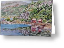 Along_the_coast_of_norway Greeting Card