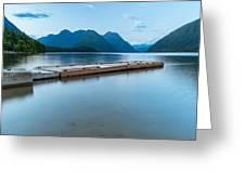 Alouette Lake Dock Greeting Card