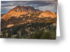 Alpenglow On Brokeoff Mountain Greeting Card