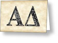 Alpha Delta - Parchment Greeting Card