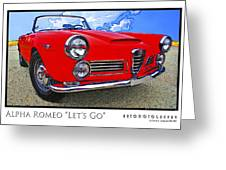 Alpha Romeo Let's Go Greeting Card