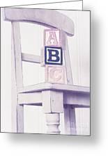 Alphabet Blocks Chair Greeting Card