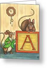 Alphabet Mice Greeting Card