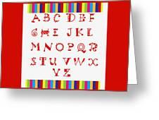 Alphabet Red Greeting Card