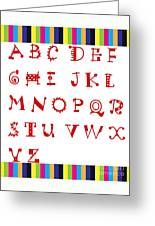 Alphabet With Multicolor Greeting Card