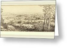 Alphonse Legros, Valley In Bourgogne Une Vallee En Bourgogne Greeting Card