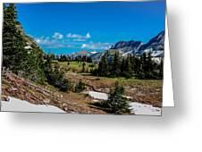 Alpine Hills In Spring Greeting Card