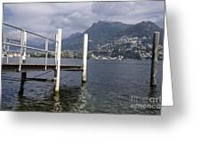 Alpine Lake And A Jetty Greeting Card
