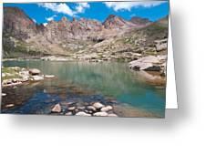 Alpine Lake Beneath Sunlight Peak Greeting Card