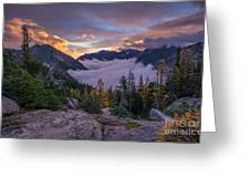 Alpine Lakes Morning Cloudscape Greeting Card