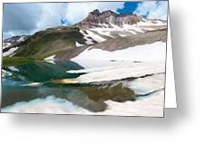 Alpine Reflection In The San Juans Greeting Card