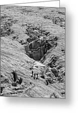 Alpinists On Glacier Greeting Card