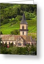 Alsace Church Greeting Card by Brian Jannsen